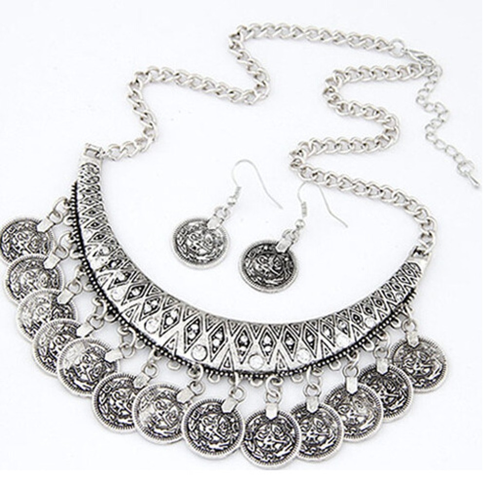 Набор украшений в восточном стиле с монетками (в наличии золото и серебро) - 4