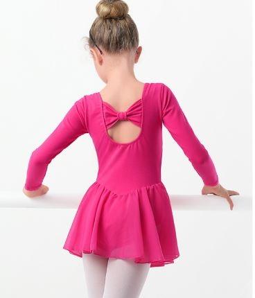 Детский купальник в ягодных тонах с юбкой для танцев и гимнастики - 3