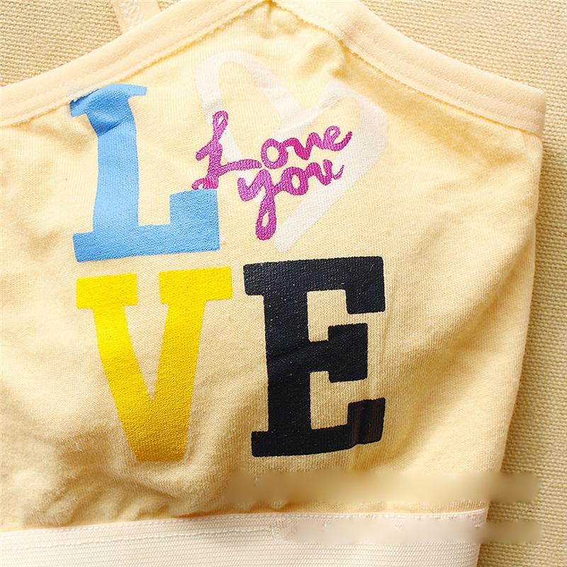 Лиф-топ натуральный подростковый с надписью LOVE - 1