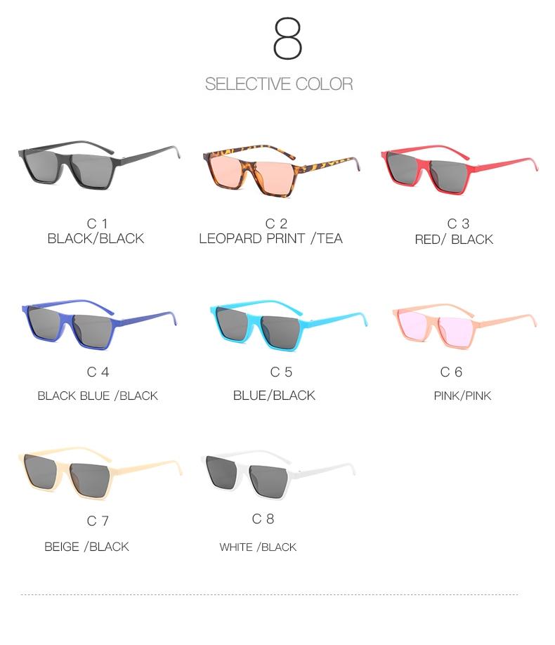 Полуободковые прямоугольные солнцезащитные очки с цветной дымчатой линзой (в наличии бежевые и черные с густо серой линзой) - 7