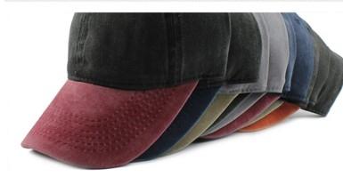 Кепка-бейсболка джинсовая унисекс с цветным козырьком  - 7