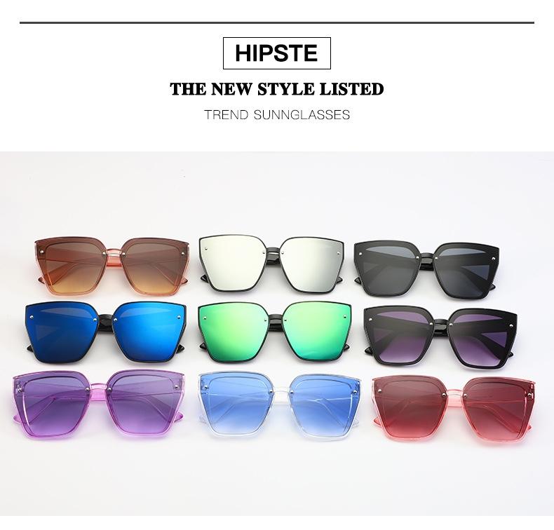 Солнцезащитные очки-трапеции с дымчатой или зеркальной линзой-накладкой (в наличии черные и розовые) - 2