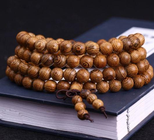 Браслет-четки из дерева венге с эффектом омбре - 7