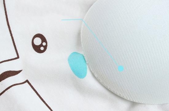 Лиф-топ натуральный подростковый с мордочкой зайца и контрастной отделкой (в наличии бело-голубой) - 7
