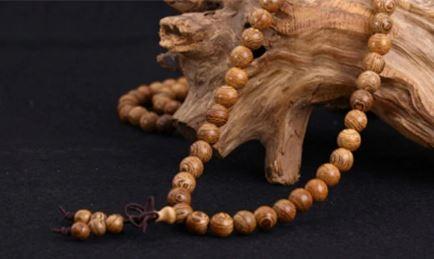 Браслет-четки из дерева венге с эффектом омбре - 8