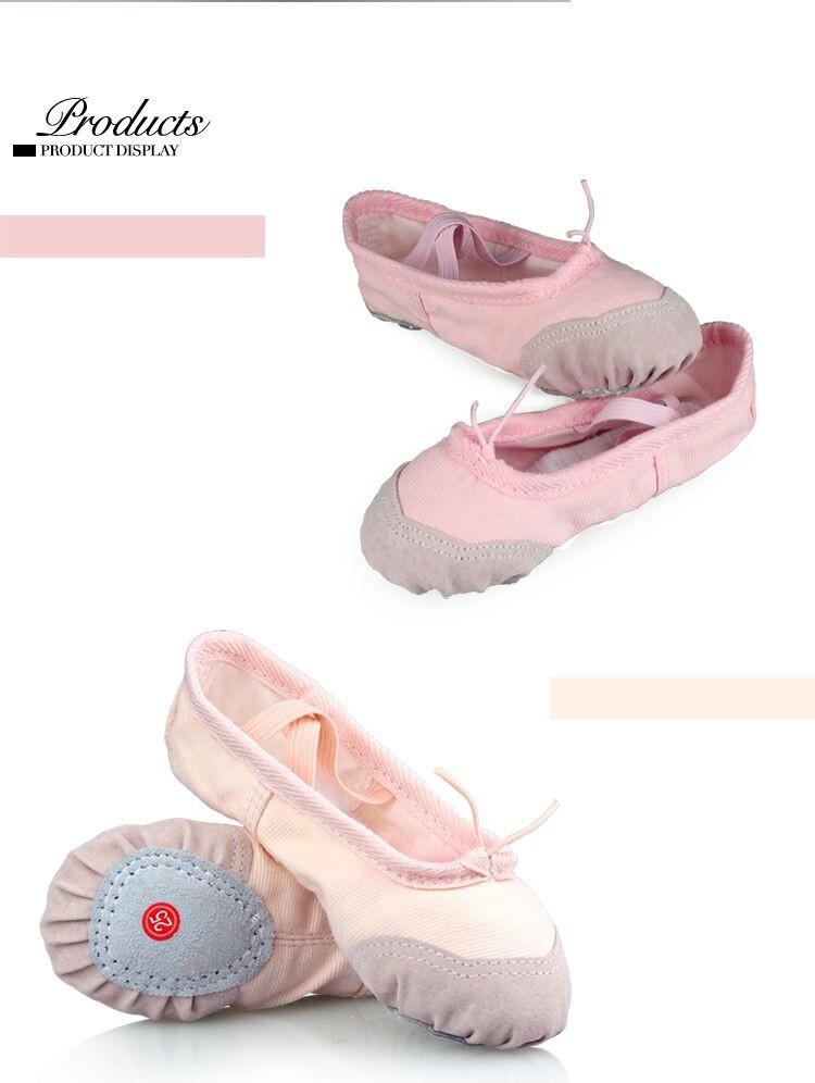 Танцевальные балетки-чешки с утяжкой хлопковые + вставка кожа - 3