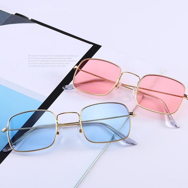 Солнцезащитные очки-прямоугольники с тонкой металлической оправой (в наличии зеленые) - 1