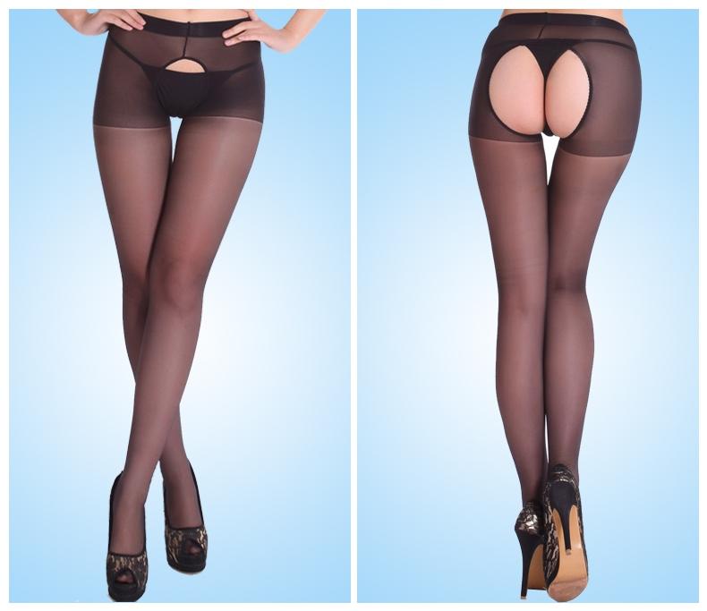 Нейлоновые эротические женские колготы (в наличии телесные, черные) - 2