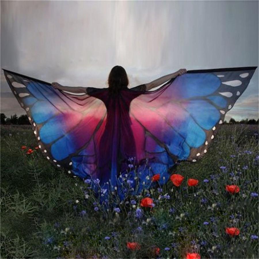 """Крылья большие для восточных танцев """"Бабочка"""" - 6"""
