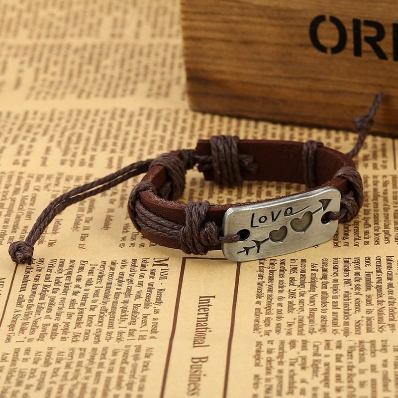 """Кожаный браслет """"Это любовь"""" - 2"""