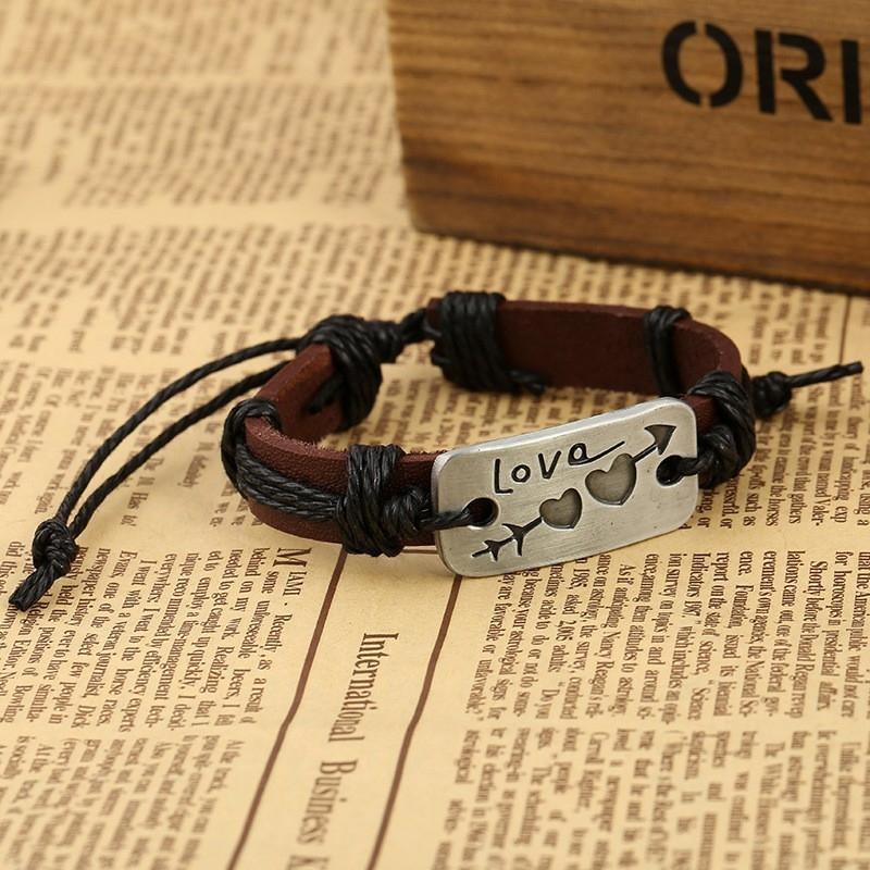 """Кожаный браслет """"Это любовь"""" - 3"""