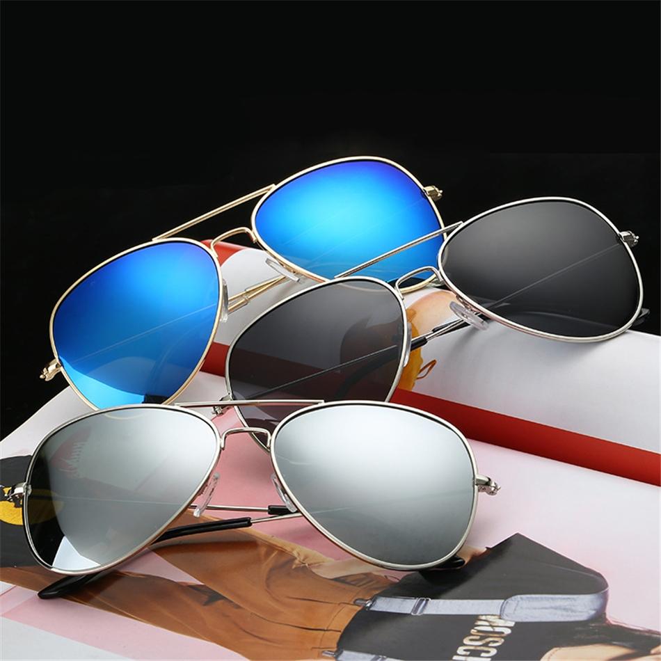 Солнцезащитные унисекс очки-авиаторы с металлической тонкой оправой (в наличии черная линза в серебре и в золоте) - 5