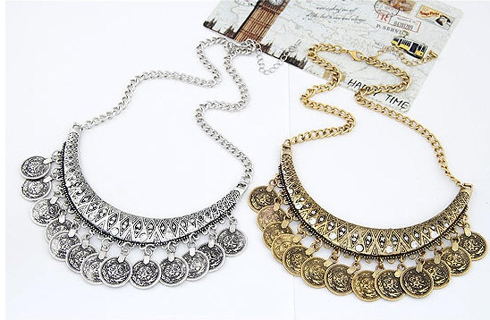 Набор украшений в восточном стиле с монетками (в наличии золото и серебро) - 2