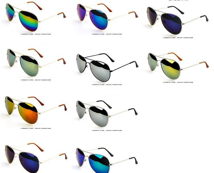 Солнцезащитные унисекс очки-авиаторы с металлической тонкой оправой (в наличии черная линза в серебре и в золоте) - 14