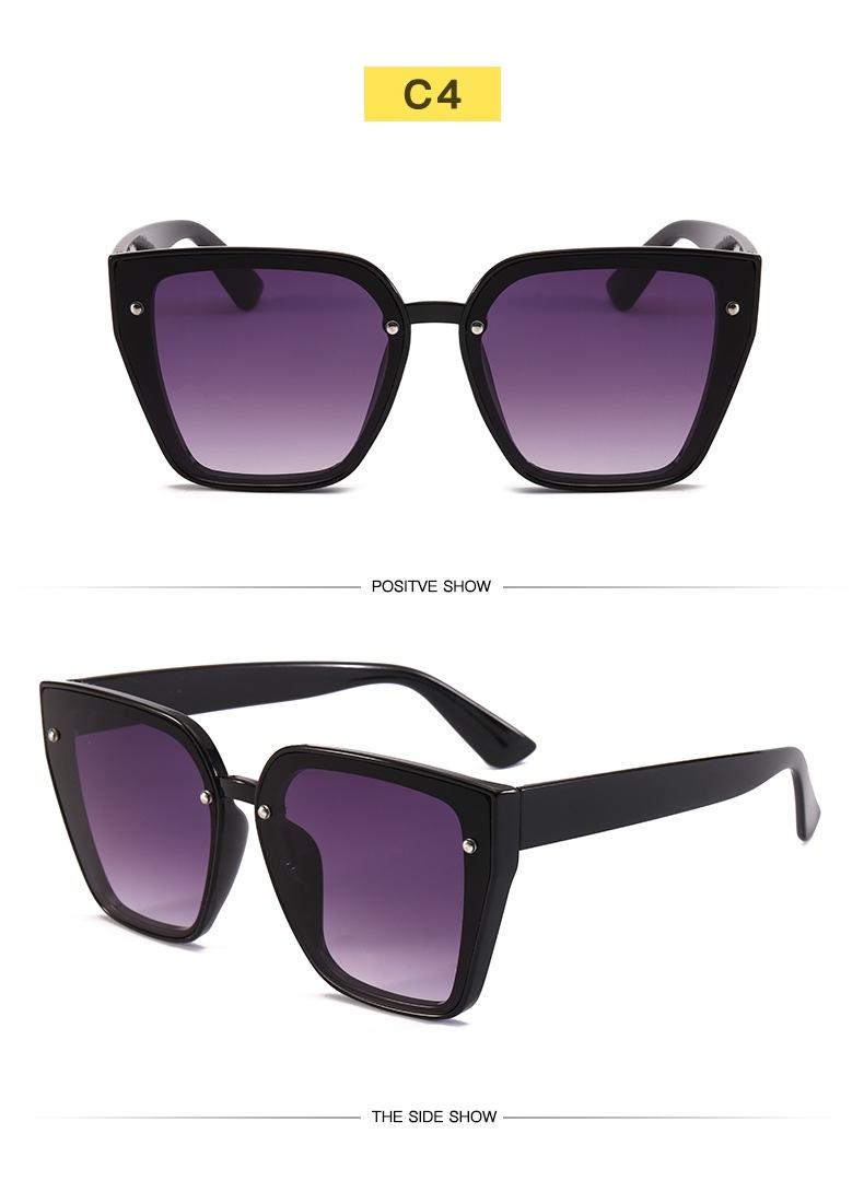 Солнцезащитные очки-трапеции с дымчатой или зеркальной линзой-накладкой (в наличии черные и розовые) - 3