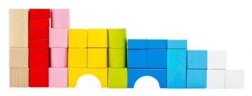 """Эко-набор деревянный пазл-коврик-дорога плюс дома и машины """"The urban traffic blocks""""  """"Город из кубиков"""" 62 детали - 9"""