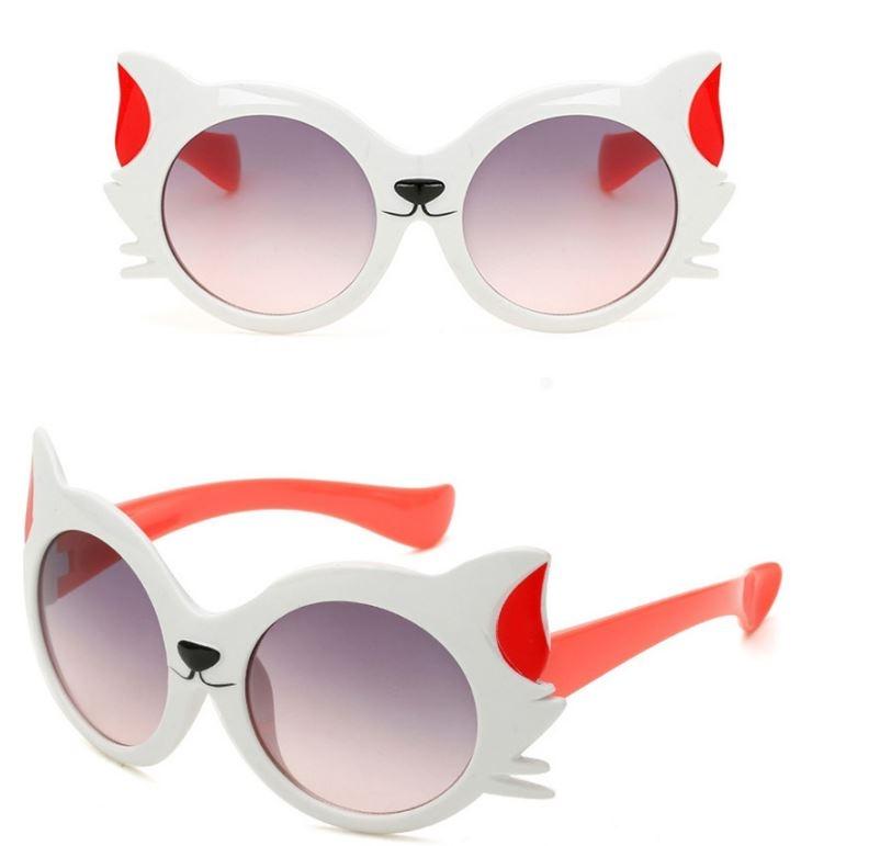 """Модные солнцезащитные двухцветные детские очки от солнца """"Котик"""" с градиентным переходом - 1"""