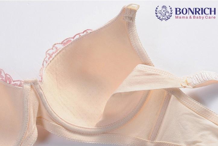Романтичный бюстгальтер с кружевной вставкой для беременных и кормящих матерей  BONRICH - 5