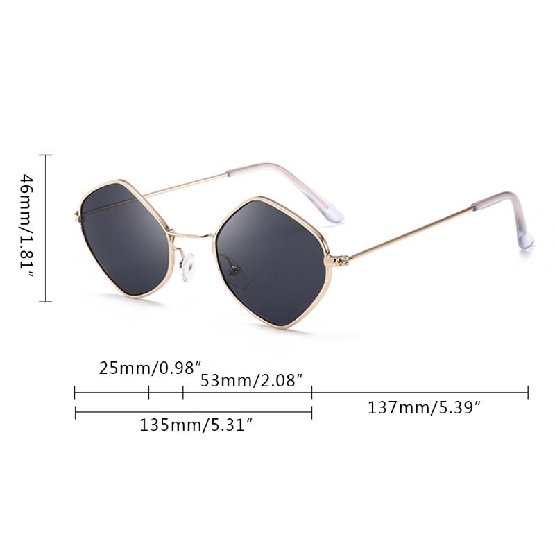 Солнцезащитные очки-ромбы с тонкой металлической оправой (в наличии розовые) - 9