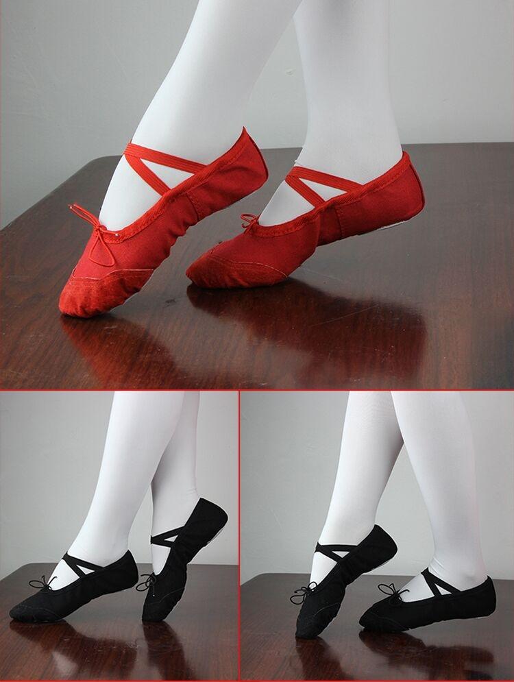 Танцевальные балетки-чешки с утяжкой хлопковые + вставка кожа - 2