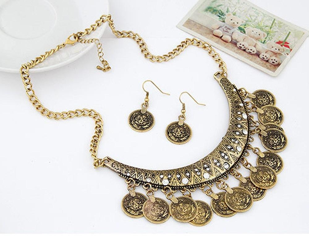 Набор украшений в восточном стиле с монетками (в наличии золото и серебро) - 3