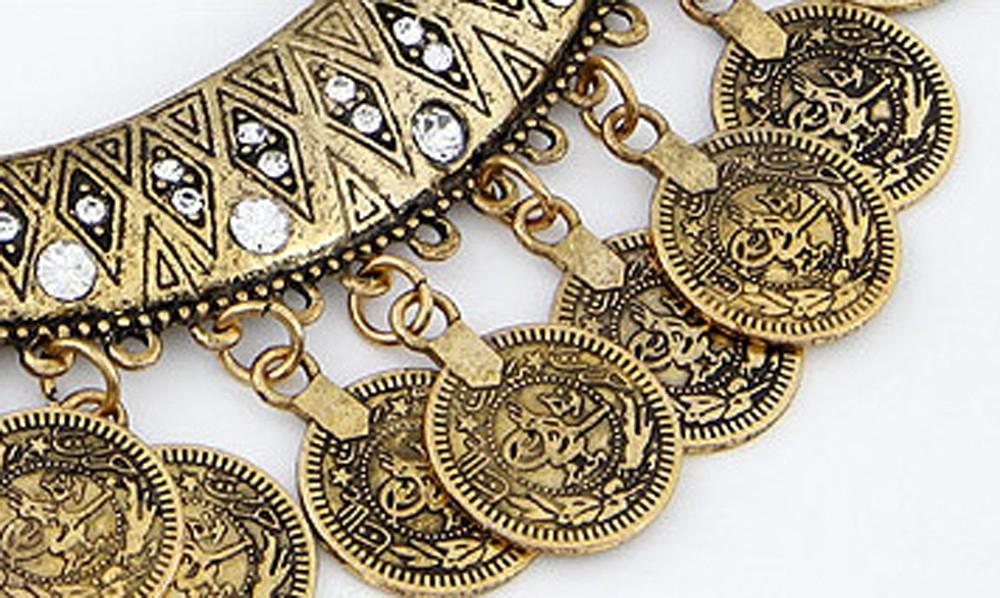 Набор украшений в восточном стиле с монетками (в наличии золото и серебро) - 6