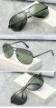 Солнцезащитные поляризованные мужские очки-авиаторы с дымчатой линзой и пружинящими дужками - 5