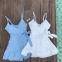 Купальник женский с платьем-сарафаном и шортами - 3