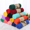 Вискозный однотонный шейный платок (в наличии серый, бордовый, темно зеленый) - 2