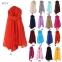 Вискозный однотонный шейный платок (в наличии серый, бордовый, темно зеленый) - 3