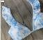 Цветочный раздельный купальник с крылышками на лифе и плавках - 4