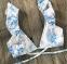 Цветочный раздельный купальник с крылышками на лифе и плавках - 5