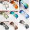 Солнцезащитные детские очки-авиаторы с металлической тонкой оправой и зеркальной или черной линзой (в наличии золотые, серебряные  зеркальные очки) - 4