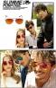 Солнцезащитные унисекс очки-авиаторы с металлической тонкой оправой (в наличии черная линза в серебре и в золоте) - 1