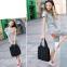 Текстильная черная сумка-уикендер в металлические заклепки - 3