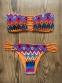 Купальник раздельный бандо с плавками-бразилиана и африканским узором - 5