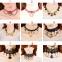"""Кружевной чокер-ожерелье """"Готика""""  ( в наличии черные и беж фото 1, а также четыре модели черного и белого цвета (последних пять фото)) - 5"""