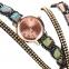 Часы-браслет женские наручные с лентой и цепочкой (в наличии черные) - 2
