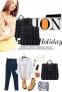 Текстильная черная сумка-уикендер в металлические заклепки - 4