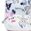 Кепка-бейсболка хлопковая с граффити в стиле аниме и длинной тесьмой (в наличии белая) - 4